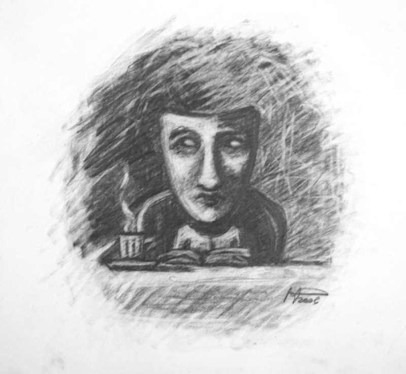 The reader _ Graphite 30x30.jpg
